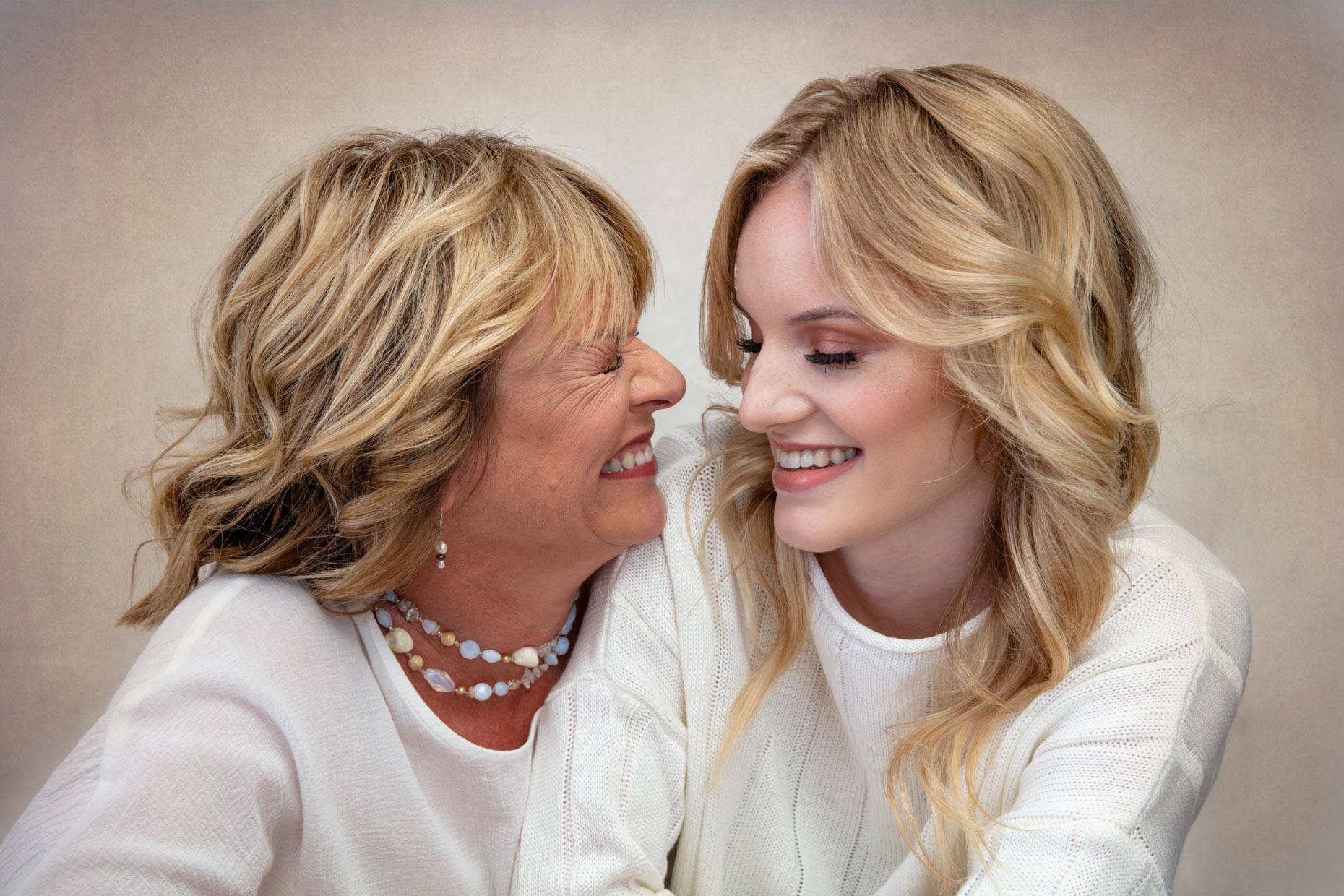 Fran (Mom) and Katie (daughter) Hardman, Beauty Portrait.
